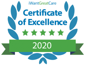 Dr Konrad Grosser certified as excellent by I Want Great Care